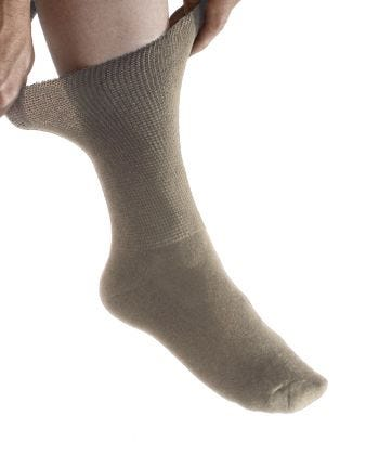 2 Pack Of Half Crew Diabetic Socks For Men