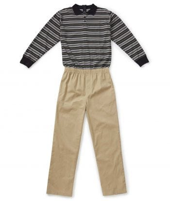 Men's Stay Dressed Jumpsuit with Long Sleeve Polo Shirt