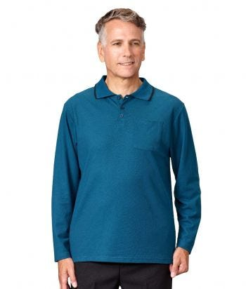 Men's Antimicrobial Open Back Polo Shirt