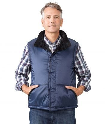 Men's Sleeveless Reversible Magnetic Front Vest