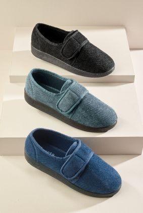 Men's Wide Adjustable Slippers