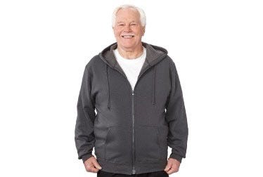 Magnetic-Zipper Hoodie with Pockets