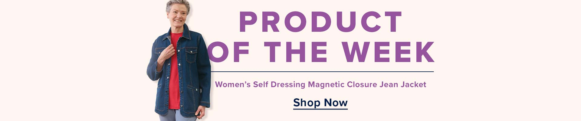Product of the Week: Women's Self Dressing Magnetic Closure Jean Jacket